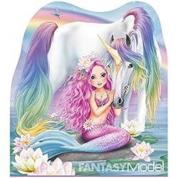 Depesche 10474 Fantasy Model Mermaid Carnet, 12 x 10,5 x 1 cm, assortis, multicolore - version allemande