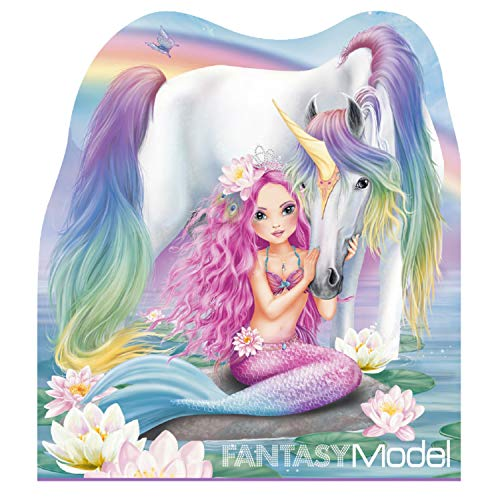 Depesche 10474 - Bloc de Notas Fantasy Model Mermaid, Aprox. 12 x 10,5 x 1 cm