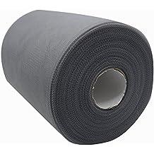 15,2cm x 91,4m (300piedi) tessuto tulle bobina/rotolo 59colori disponibili, runner sedia del telaio Bow tutu gonna cucito lavorazione tessuto wedding party Gift Ribbon dark grey