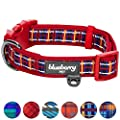 Blueberry Pet Classic Scottish Tartan Pattern Ultra-soft Neoprene Padded Dog Collar by Blueberry Pet