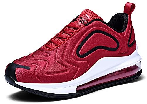 Damen Herren Laufschuhe Sportschuhe Turnschuhe Trainers Running Fitness Atmungsaktiv Sneakers(Rot,Gr??e 42)