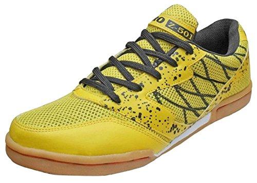 Port Unisex Z-501 Yellow PU Badminton Shoes(Size 6 Uk/Ind)