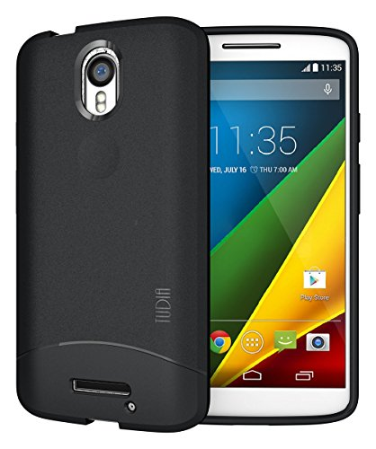 TUDIA ARCH TPU Schutzhülle Motorola Droid Turbo 2 (Verizon) / Moto X Force (2015) Ultra Slim Hülle (Schwarz)