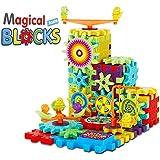 Planet of Toys Building Blocks for Kids Magic Education Blocks Learning Blocks Toys for Kids - Multi Color (81Pcs.)