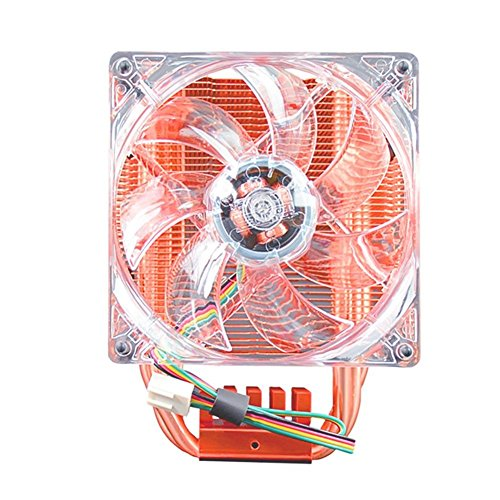 Prosperveil CPU-Kühler Fan Fluid Bearing Kupfer 4Pin Kühlkörper für AMD 2066/115x/2011 (6 Heatpipe)