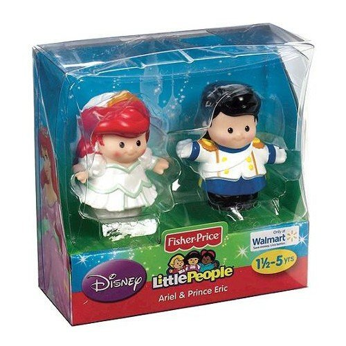 Fisher-Price Little People Exclusive Disney 2 Pack: Ariel and Prince Eric