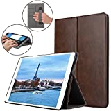For Apple New IPad 9.7 Inch 2017 Case (with Card / Cash Pocket) Premium Leather Folio Stand Smart Flip Cover Case For New 2017 Apple IPad 9.7 Inch Model. A1822 / A1823 Multiple Viewing Angles Flip Case Cover (Rust Brown)