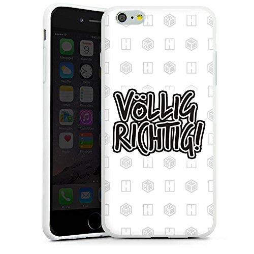 Apple iPhone X Silikon Hülle Case Schutzhülle der_hacki Fanartikel Merchandise völlig richtig Silikon Case weiß