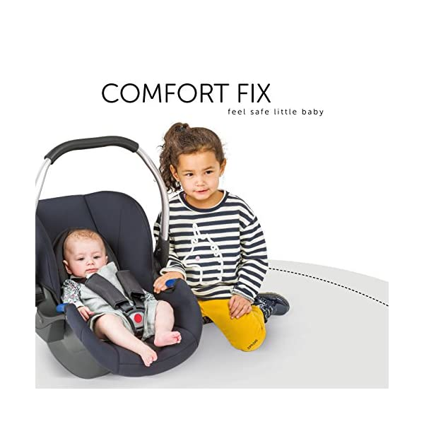 Hauck Comfort Fix, Lightweight Infant Car Seat Group 0+, ECE 44/04, from Birth to 13 kg, Side Impact Protection, Compatible with hauck Isofix Base, Black Hauck Compatible with hauck comfort fix base Side impact protection Quality, breathable stretch fabrics 5