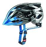 UVEX Herren I-Vo c Fahrradhelm, Dark Silver-Blue, 56-60