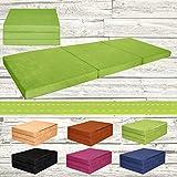 Fortisline Matelas d'appoint pliant lit d'appoint lit d'invité futon pouf 195x80x9 cm couleur vert