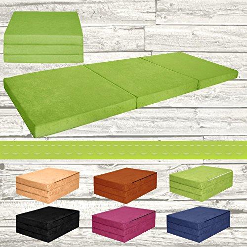 Materasso-pieghevole-per-ospiti-letto-per-letto-Ospite-futon-Pouf-195-x-80-x-9-cm-colore-verde