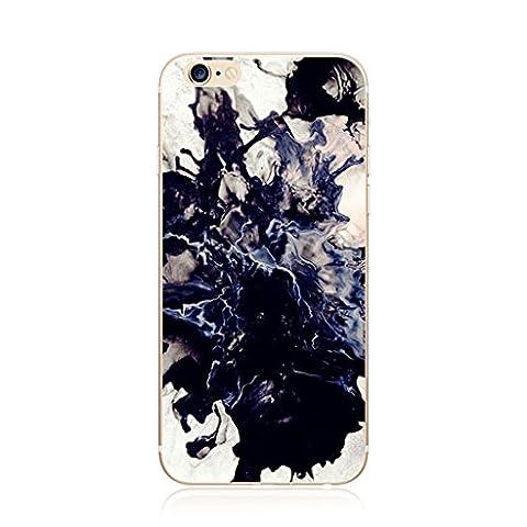 Étuis pour téléphone MUTOUREN pour iPhone 7 Plus Ultra-thin Coque transparente pour téléphone portable TPU Housse en silicone Protecteur Flexible portable élégant Résistant aux rayures Résistance à la choc Housse antichoc à l'encre Noir