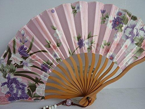 Tang dynasty (TM) Hochwertige Japanische Seide und Satins Handheld Fan Hand Fan - Japanese Fan Red - Folding