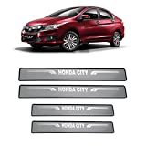 #6: AutoPop Stainless Steel Non-LED Footstep Door Sill Plate for Honda City 2015 Above