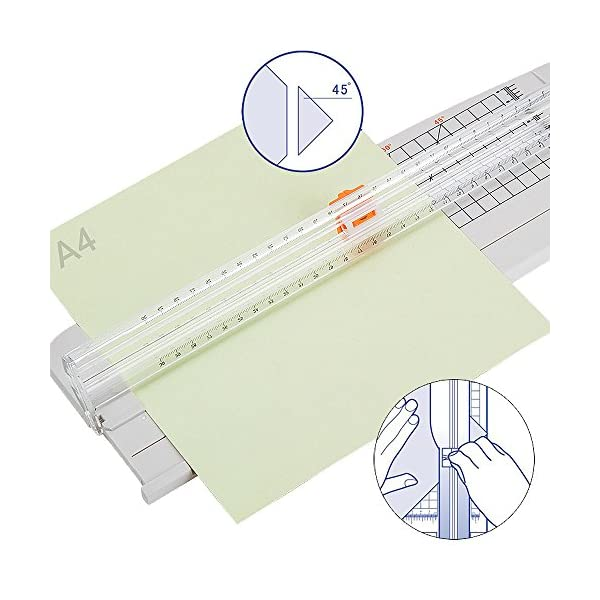 51x3sBiYEoL. SS600  - Jielisi Taglierina nera 12 pollici per carta A4 con funzione di sicurezza automatica per protezione durante il taglio