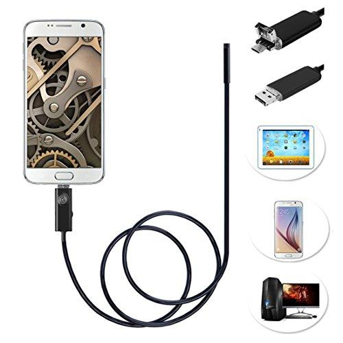 Mekago 9mm 5m 2.0MP Cmso 6-led USB endoscopio ispezione fotocamera per telefono android con funzione OTG e UVC e compatibile con laptop