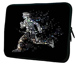 """Snoogg Kevin Mitnick Ghost 2653 14"""" 14.5"""" 14.6"""" inch Laptop Notebook Slipcase Sleeve Soft Case Carrying Case for MacBook Pro Acer Asus Dell Hp Sony Toshiba"""