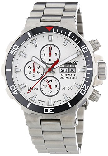 Ingersoll Gents Watch Chronograph XL Automatic IN1314WHMB Stainless Steel