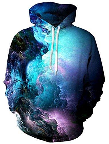 Bfustyle 3d Nebelfleck-Raum Hoodie Super-beiläufige Sport-Pullover Sweatshirts für Teen Jungen