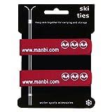 Manbi Paar 2cm Klettverschluss Ski-bindungen Atomic K2 Head Kabel Ordentlich Koffer Gurt - Rot