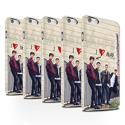 Officiel The Vamps Coque / Clipser Matte Etui pour Apple iPhone 6S / Pack 5pcs Design / The Vamps Journal Secret Collection Pack 5pcs