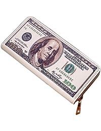Malloom® Frauen Männer Bifold Business Leder Brieftasche ID Kreditkarteninhaber Reißverschluss Taschen Brustbeutel Brusttasche Handystasche Kleingeldtasche PU Leder