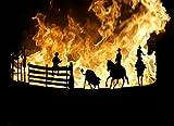 Feuerstelle Feuerschale Feuerkorb Terrassenfeuer Western Cowboys