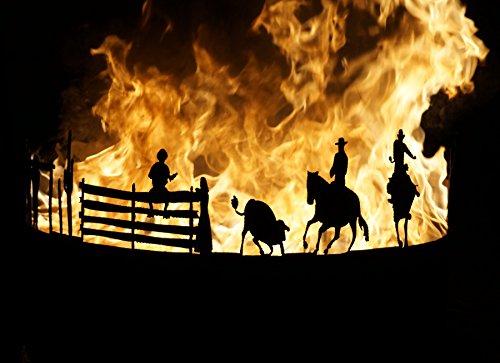 Feuerstelle Feuerschale Feuerkorb Terrassenfeuer Western Cowboys (Cowboys Garten)