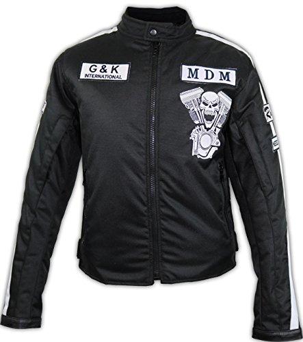 Herren Motorradjacke Motorrad Textil Jacke Biker Schwarz (3XL) - 3