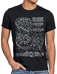 style3 Millennium Falcon Herren T-Shirt blaupause falkon