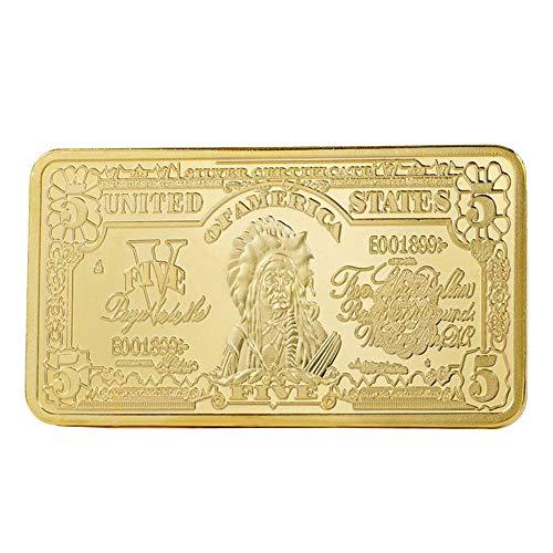 Leaftree Gedenkmünze Bullion Bar Gold Moderne Andenken-Münzen-Andenken-Startseite 5 24K Gold-Plated -