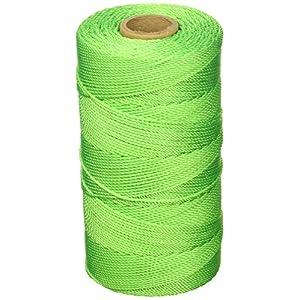 Keson gt1090# 18nailon trenzado cordel de albañil, verde, 1090'l