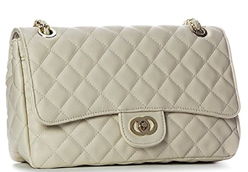 Big Handbag Shop, Borsa a secchiello donna One Beige (Light Beige)