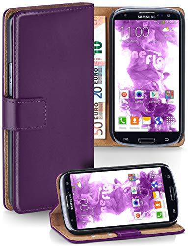 lip Funktion [360 Grad Voll-Schutz] für Samsung Galaxy S3 / S3 Neo | Geldfach und Kartenfach + Stand-Funktion und Magnet-Verschluss, Lila ()