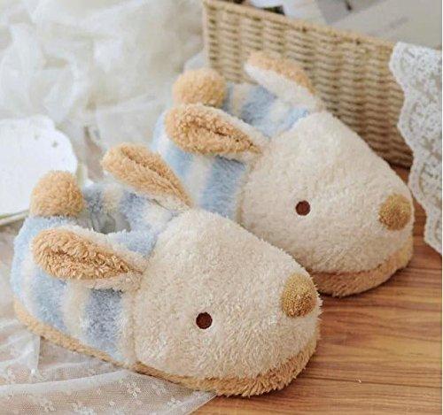 HH Carino piccolo fumetto coniglio peluche calde pantofole casa slittamento di pantofole antiscivolo cotone fuori scarpe . 36-39