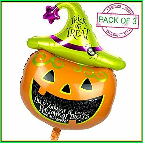 Rmctrends® - palloncini decorativi per halloween, a forma di zucca gigante, extra grandi, laminati, 105 x 65 cm, set di 3