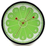 ZWL Runde Wanduhr süß und sauer Zitrone Wohnzimmer Schlafzimmer Metall stumm runde Wanduhr Uhr Tisch 30CM fashion ( Farbe : #2 )