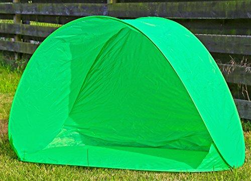 Preisvergleich Produktbild Strandmuschel Grün Sonnenschutz Zelt Popup Wurfzelt UV Schutz