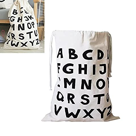Laundry Drawstring Bags Canvas Stuff Bag Baby Toys Washing Clothes