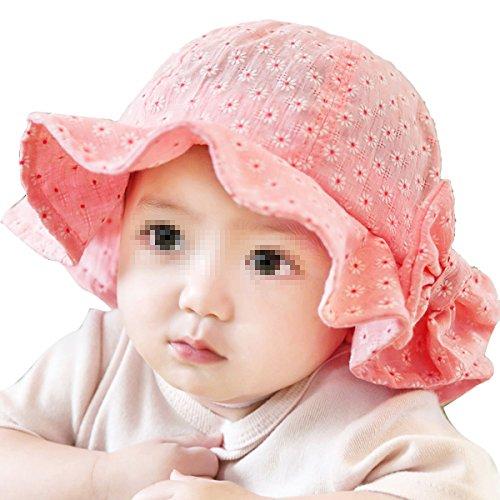 TININNA Chapeau de Soleil d'été Imprimé Fleur Floral Anti-UV Bébé Unisexe Enfant Bonnet Casquette Fille et Garçon 6mois-2ans Pastèque Rouge