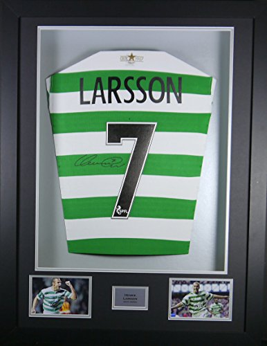 Henrik-Larsson-Celtic-Signed-Shirt-3D-Framed-Display-with-COA