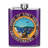 Risating Flacon de Poche en Acier Inoxydable Motif Drapeau du Colorado Rocky et Skyline, Coloris 25, 7 OZ