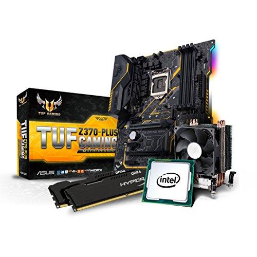 Kiebel Aufrüst Kit (v8): [184570] Intel Core i5-8600K 6-Kerner (6x3.6 GHz) | 16GB DDR4-2666 MHz | Intel HD Grafik | Sound | ASUS TUF Z370 Plus Gaming | Aufrüst Bundle komplett vormontiert und getestet