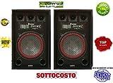 COPPIA CASSE AUDIO PASSIVE 4 VIE WOOFER 31CM 800 WATT MAX immagine