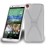 HTC Desire 820 Silikon-Hülle in HALB-DURCHSICHTIG von