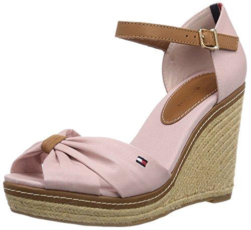 Tommy Hilfiger EMERY 54D, Damen Offene Sandalen mit Keilabsatz, Pink (DUSTY ROSE 615), 40 EU