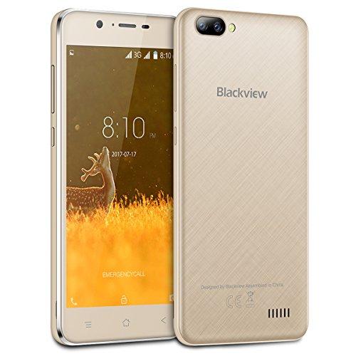 Blackview A20 - 5.5 pulgadas (relación 18: 9) Android Go Smartphone, 1.3Ghz quad core 1GB + 8GB, 2MP + 5MP / 0.3MP...
