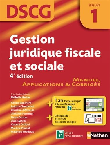 Gestion juridique, fiscale et sociale - DSCG 1