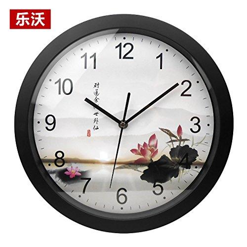 12-Zoll-Bett f¨¹r Kinder Uhren Kunst Farbe gro?en Digitale Wanduhr Stilvolle Mute Wanduhr, Wenn Man Klare,12, im Lotus Teich